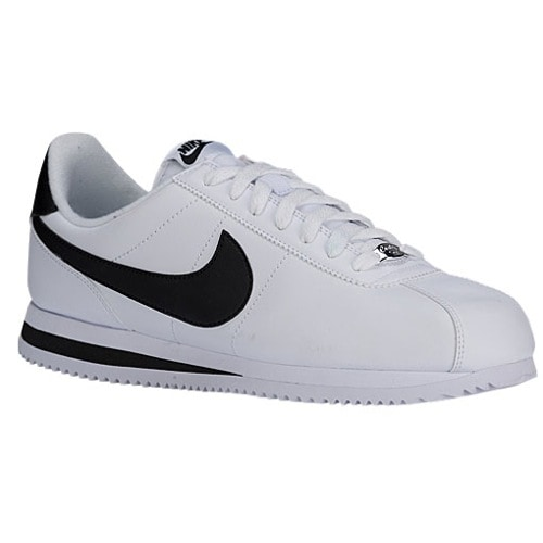 nike cortez black and white
