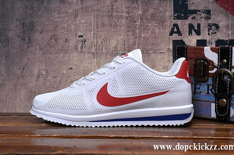 nike cortez blue and white