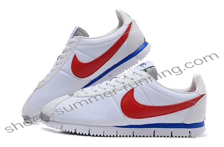 nike cortez red white blue