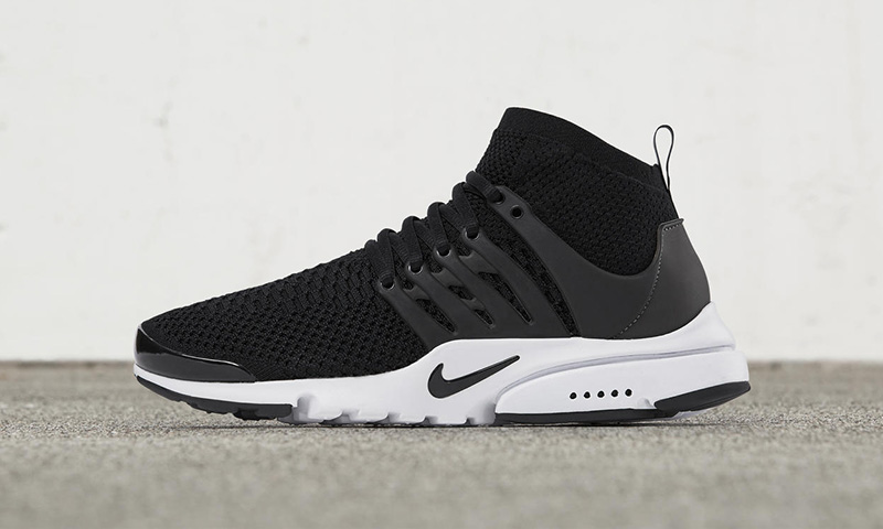 nike presto black and white